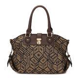 Vintage Weave Fabric Woman Designer Tote Handbags (MBNO035064)