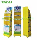 Rotary Cardboard Floor Display with Shelves for Woodlock Medicated Balm, China Creative Cardboard Display Stand