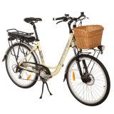 Elegant Lady Electric Bike with Beautiful Rattan Basket (JB-TDF11Z)