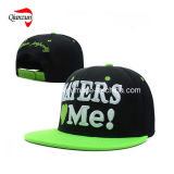 6 Panel Black 3D Embroidery Caps and Hats