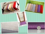 100% Polyester Tufted Living Room Bath/Floor/Area Mat/Rug with Strong Rubber