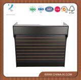 Customized Display Counter with Slatwall Panel and Ledge