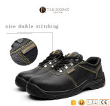 PU Injected Leather Steel Toe Insole Safety Shoes for Men