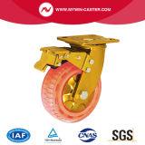 Swivel Brake Plate Nylon Wheel Heavy Duty