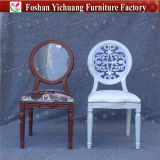 Yc-D301 Delicate and Fancy Banquet Dining Round Back Metal French Bistro Restaurant Chair