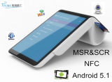 Handheld Mobile POS Terminal Ts-7003 with 7 Inch Tablet/Thermal Printer/Customer Display/EMV Card Reader