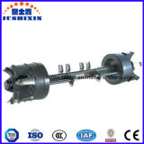 Black Red Color Stub Trailer Spoke Axle with Brake Chamber
