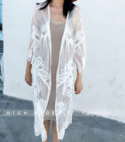 Women Bikini Swimsuit Cover-UPS Flowery Crochet Long Beach Dress