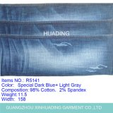 Horizontal Straight Bamboo Cotton Elastic Denim Jeans Fabric (R5141)