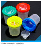 Colorful Plastic Brush Washer Pot for Kids and Students