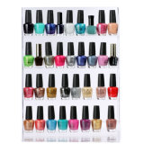 36 Bottles Transparent Acrylic Nail Polish Wall Rack Display 4 Layers Nail Tools