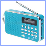 T-205 Play Audio Memory Card Directly Aux Audio Input High Sensitive FM Stereo Radio Speaker