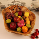 Carved Wooden Basket Wooden Crafts Natural Handmade Creative Fruit Plate