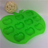 FDA Apple Shape Silicone Ice Mold with Ice Cube