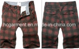 Grid Casual Leisure Cotton Cargo Jogger Washing Pants for Man