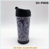 350ml Single Wall Plastic Advertising Travel Mug Coffee Mug (SH-PM08)