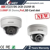 Outdoor 3MP Dome IR Poe Hikvision IP Camera Ds-2CD2135f-Is