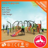 Multi-Functional Plastic Train Park Outdoor Playground Slide