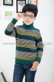 Turtleneck Fashion Striped Ribbed Children Wool Sweater