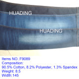 Wholesale Cotton Polyester Spandex Jeans Denim Fabric (F9089)