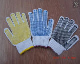7g Colored PVC Dots on Palm Cotton Knitted Gloves