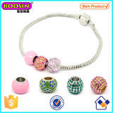 China Made Alloy Women European Beads Bracelet #Scb009