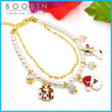 Christmas Theme Charm Pearl Bracelet #31466
