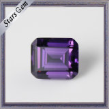 Amethyst Color Highly Professional Octangon Emerald Cut CZ