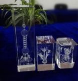 Custom Various Sizes Crystal Cube for Decoration
