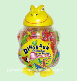Dinosaur Tattoo Bubble Gum Put in Dinosaur Shaped Plastic Jar