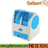 Desktop Dual Bladeless USB Cooling Air Conditioner Mini Small Fan