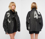 Etched Military Inspired Buttons Countdown Moto Jacket