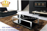 High Gloss Glass Stainless Steel Coffee Table Office Furniture
