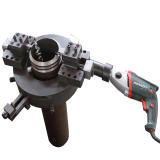 outer mounted electric orbital metal stainless steel pipe cutting and beveling machine