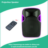 Plastic Radio USB Karaoke Speaker Box with LED Projector