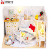 Wood DIY Kids Toys Dollhouse with Furniture