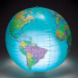 50cm Diameter PVC or TPU Inflatable LED Globe for Promotion or Event