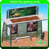 Popular Rectangle Steel Advertising Bus Shelter Design