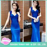 Miss Morena Deep- V Neck Sleeveless Vintage Maxi Dresses for Women