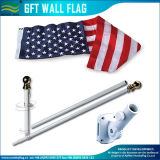 6FT Aluminum/Steel 3 Sectional Adjustable Flagpole Wall Frame (J-NF21M03002)