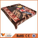 Multi Flower Design Warm Raschel Blankets for Home Textile