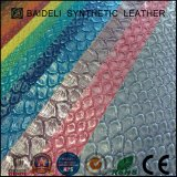Metallic Snake Pattern PVC/PU Synthetic Leather for Lady Fashion Bag, Hand Bag, Wallet