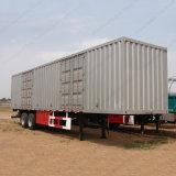 Tri Axles Van Body Truck Cargo Box Semi Trailer with High Quality