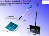 Plastic Snow Shovel with Aluminum Eadge Protection