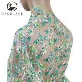 Nigeria Green Embroidery Lace Fabric for Party Dress