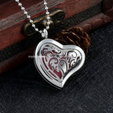 Fashion Heart Aromatherapy Essential Oil Diffuser Necklace