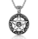 Lucy Star Titanium Steel Necklace Pendant Fashion Jewelry Men & Women
