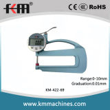 0-10mm Digital Thickness Gauge with 0.01mm Graduation and 120mm Throat Depth