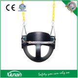 Heavy-Duty High Back Half Bucket Toddler Swing Seat with Coated Swing Chains and Safety Strap
