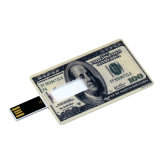 Waterproof U Disk Flash Card 32GB/16GB/8GB Bank Credit Card Shape USB Flash Drive Pen Drive Banknote Memory Flash Stick